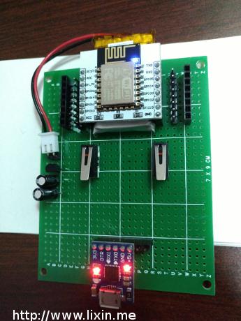 esp8266实验:搭建最小系统,刷nodemcu固件,dht11温度读取并上传服务器